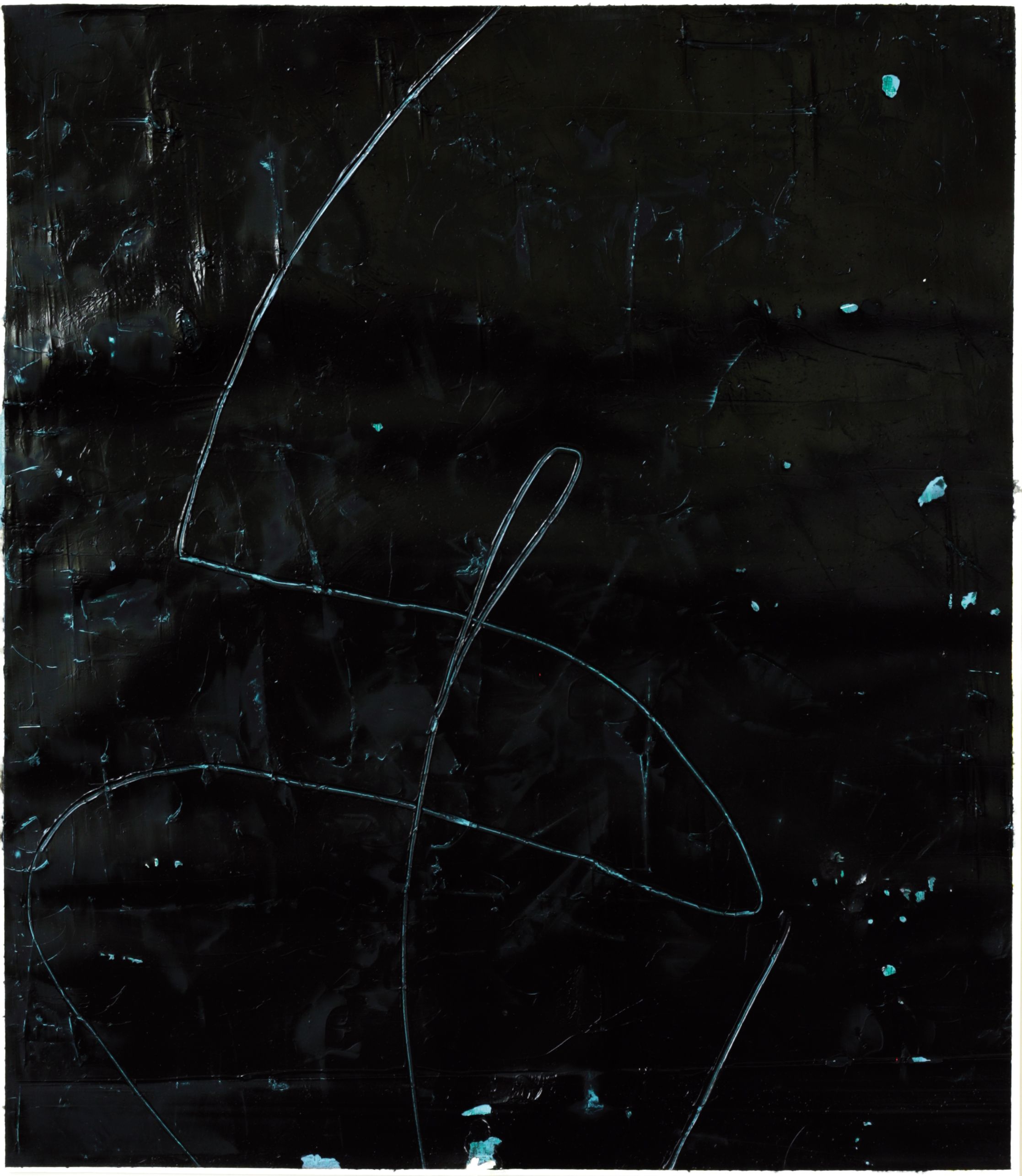Felix_Becker_untitled (Herum II) 2019_oil and gesso on paper_47 x 42 cm
